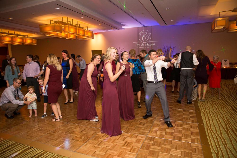 Wedding guests having fun at the reception | Herndon, Virginia Wedding Venue | Megan Rei Photography