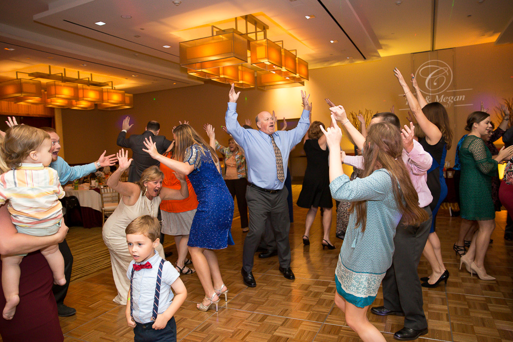 Fun, colorful dance floor photos at Westin Washington Dulles | Dominion Wedding Entertainment | Northern Virginia Wedding DJ