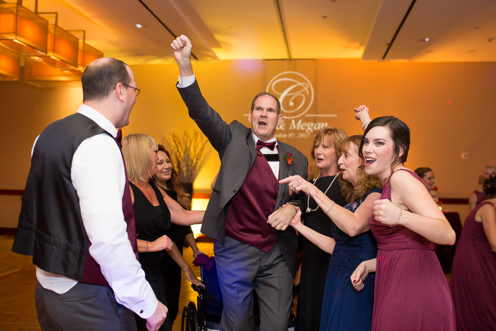 Candid group dancing photo | Music provided by Dominion Wedding Entertainment, Northern Virginia Wedding DJ