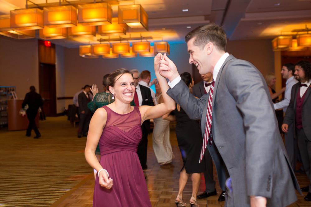 Colorful wedding reception pictures at Westin Washington Dulles | Megan Rei Photography