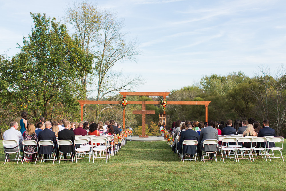 Wedding ceremony site at Mountain Run Winery in Culpeper, Virginia | Best Culpeper Wedding Venues