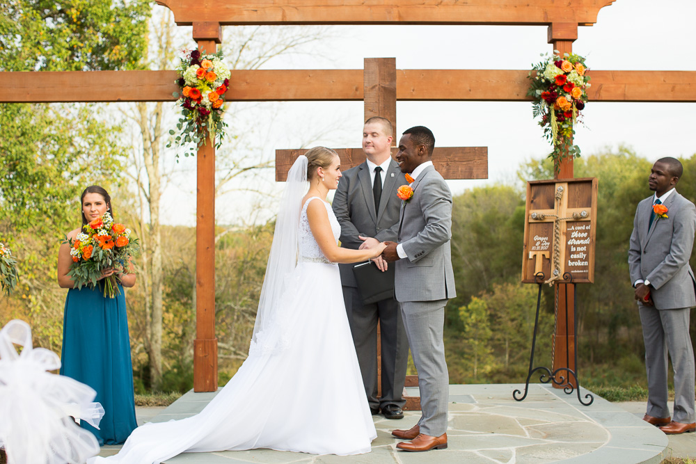Outdoor wedding ceremony | Northern Virginia winery wedding venue at Mountain Run Winery