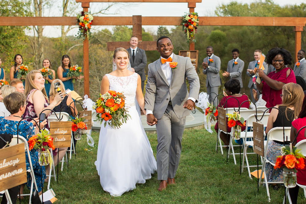 Happy couple at Mountain Run Winery | Best outdoor wedding venues in Northern Virginia | Megan Rei Photography