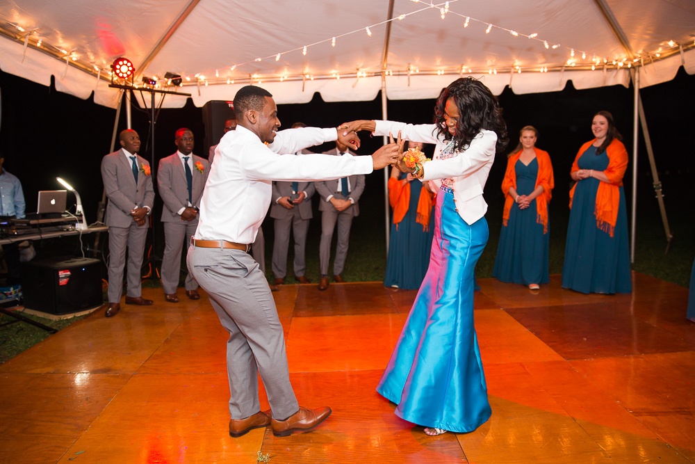 A fun mother-son dance at Mountain Run Winery, Culpeper