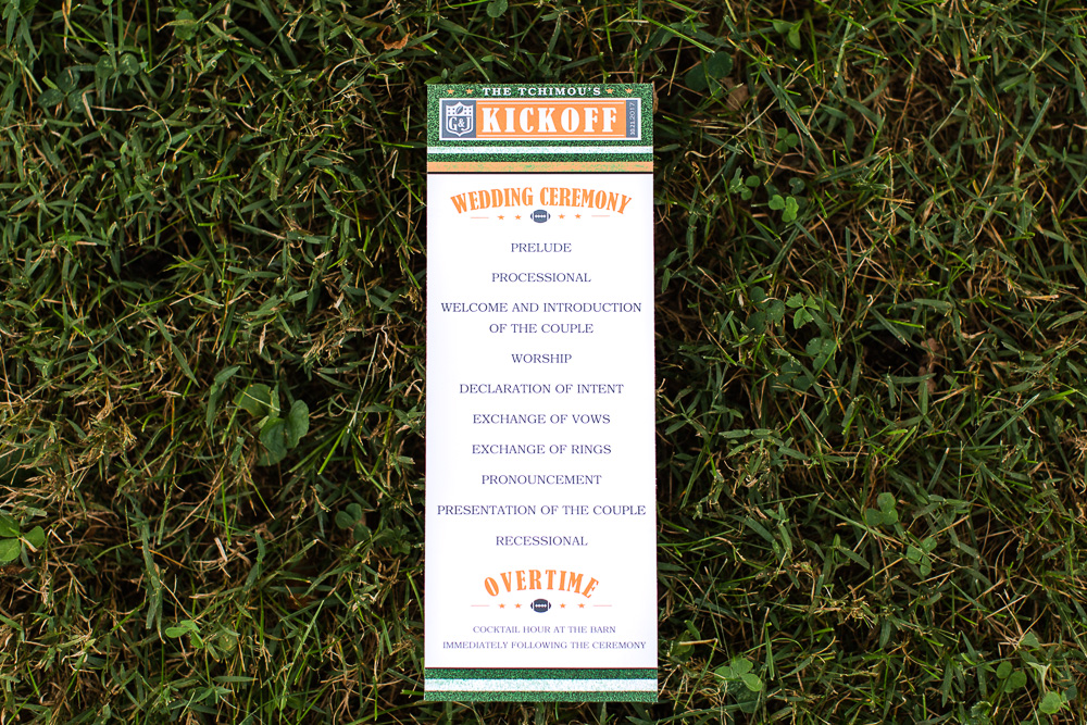 Football-themed wedding invitation | Fun wedding in Culpeper
