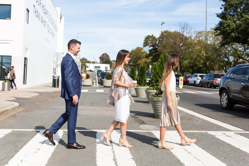 Crossing the street at Union Market | Lifestyle wedding photography