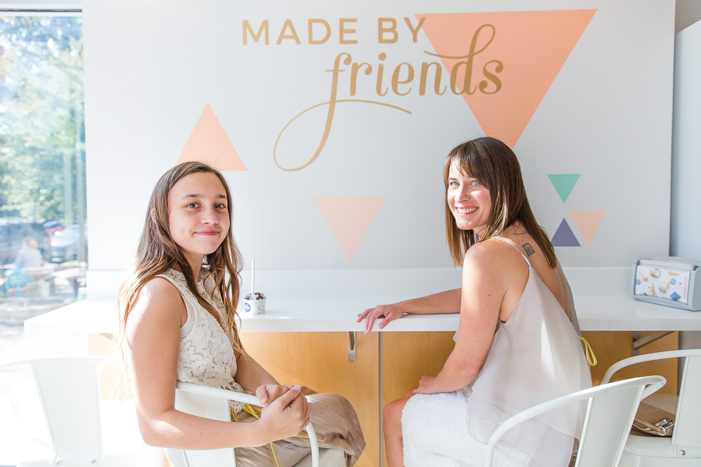 Made by Friends sign at Ice Cream Jubilee in Washington DC | Alternative wedding photo locations