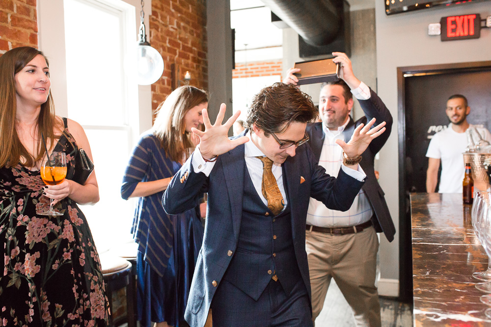 Washington DC Flash Mob | Engagement party turned surprise wedding at Lupo Verde | Best Altenrative DC Wedding Venues