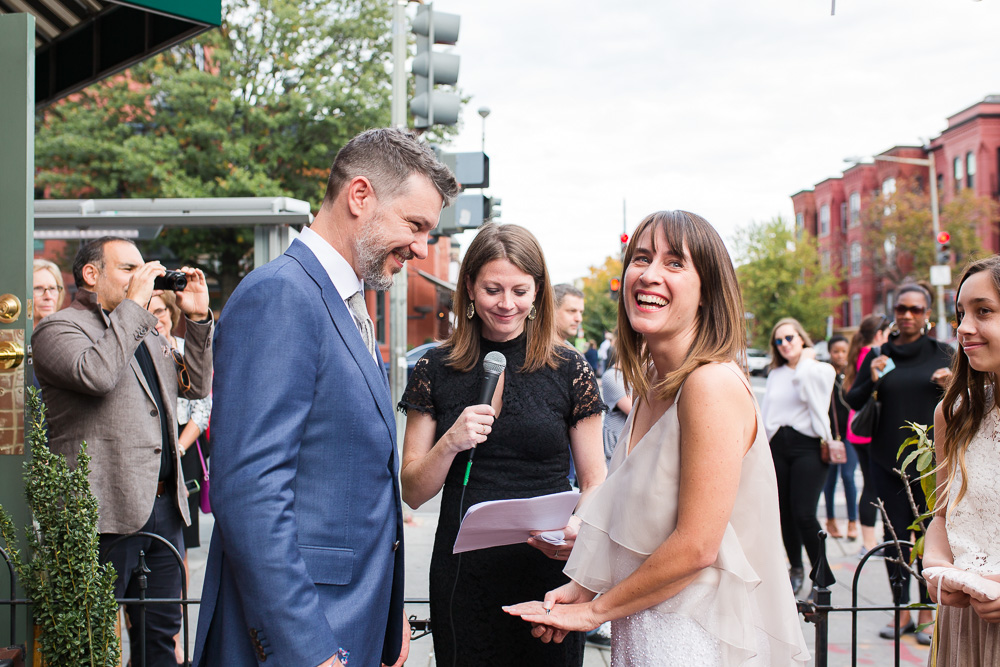 Candid photo of a surprise DC wedding | Alternative wedding ideas in Washington DC | Unique Wedding Venue | Megan Rei Photography