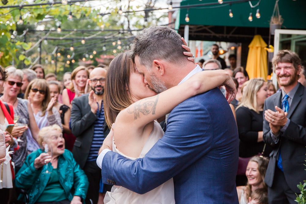 The First Kiss | Outdoor DC Wedding Venue