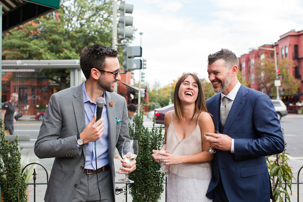 Laughter during the toasts | Fun Wedding Photographer in Washington DC | Megan Rei Photography