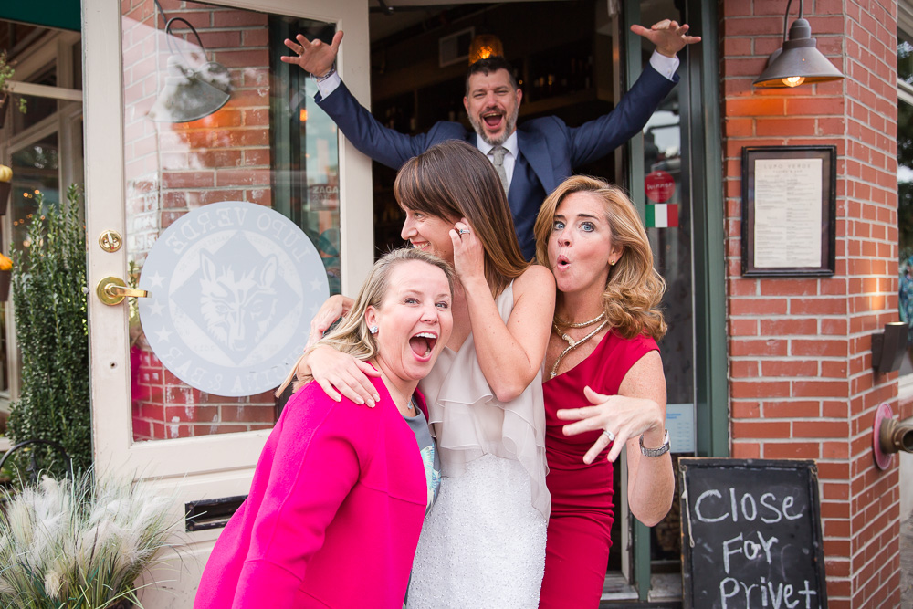 Funny photo with bride, groom, and guests | Fun and Candid Wedding Photography | Washington DC Unique Weddings