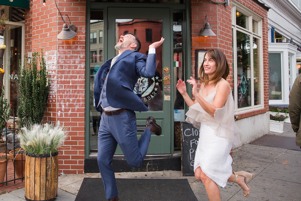 Funny photo of the bride and groom | Fun Wedding Photographer in Washington DC | Megan Rei Photography