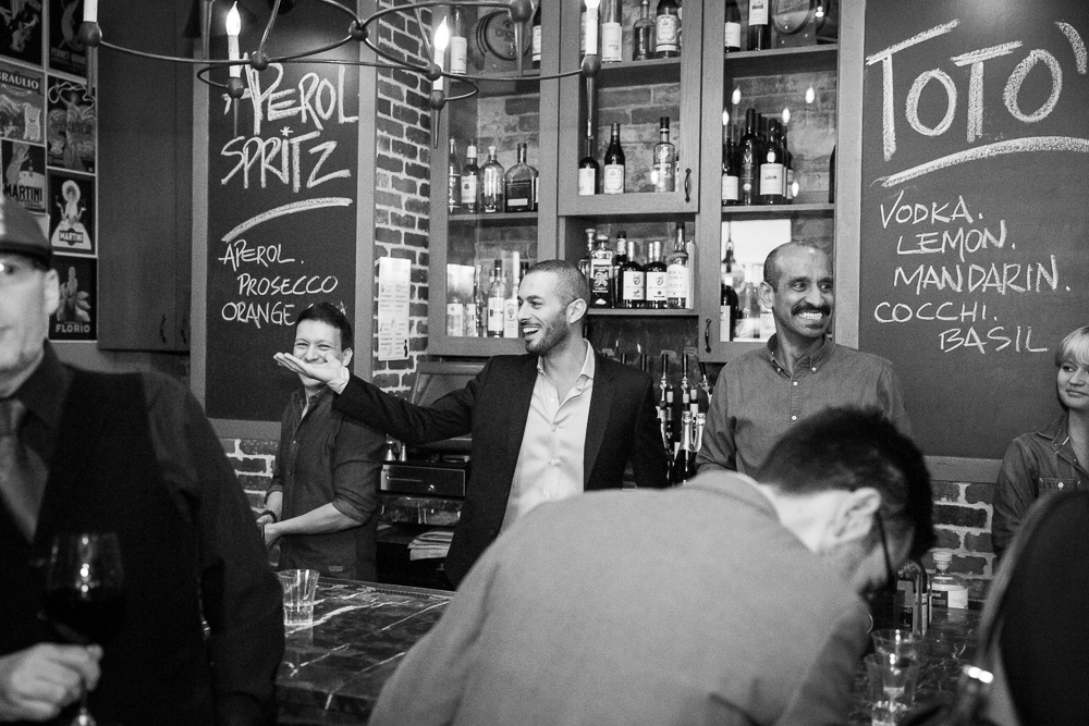 Behind the bar at Lupo Verde | Candid Photography in Washington DC | Megan Rei Photography