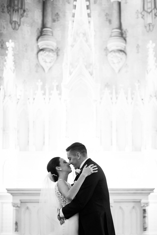 The First Kiss at Chapel Hill | Rochester NY Wedding Ceremony Venue