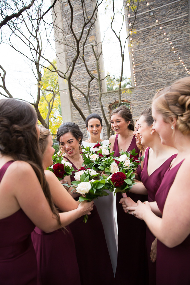 Bridal party bouquets from Wegmans Florals, Rochester, New York