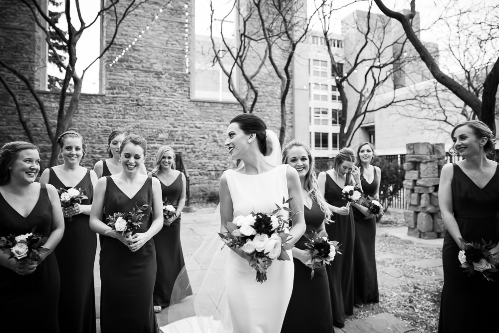 Classic photo of bride and bridesmaids