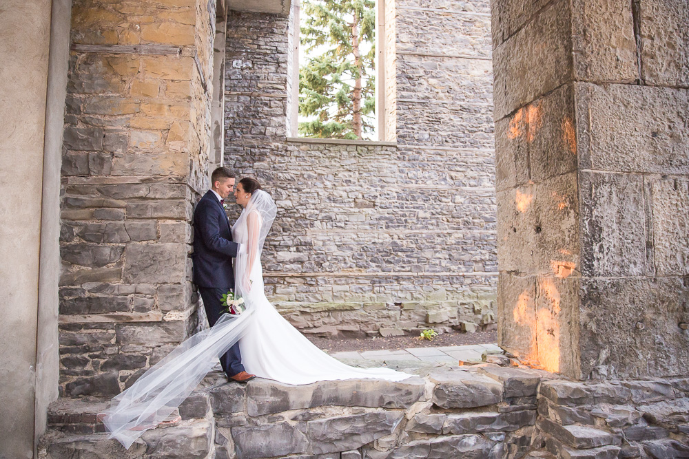 Happy couple on their wedding day | St. Joseph's Park | Best Wedding Photo Locations in Rochester, NY