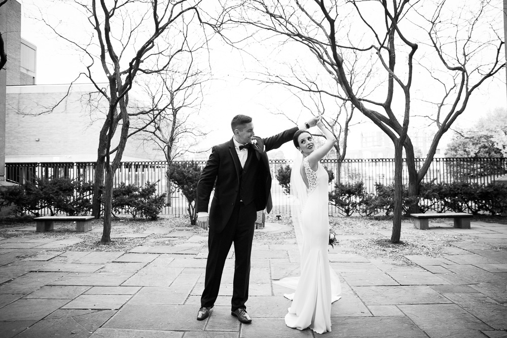 Bride and groom dancing at St. Joseph's Park | Documentary Wedding Photography in Western New York