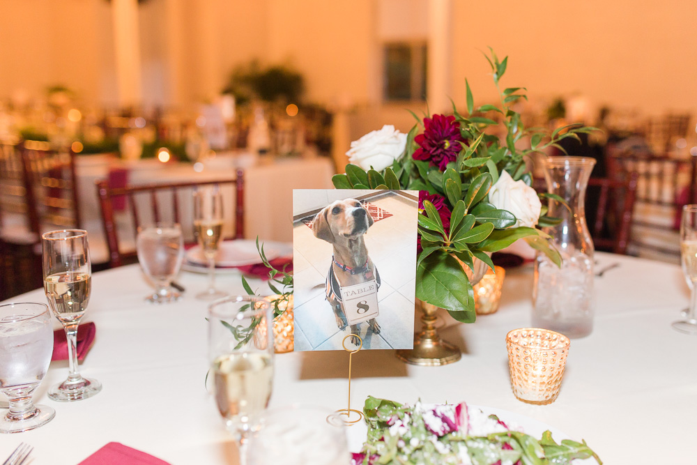 Wedding dog décor at Arbor Loft | Rochester, NY Wedding Photographer