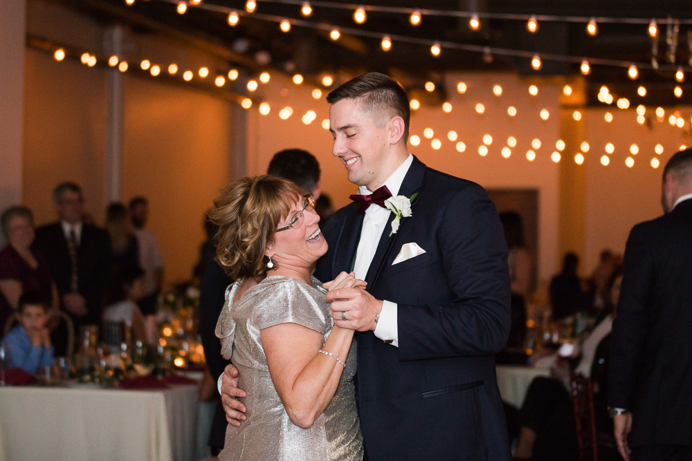 Mother-son dance at The Arbor Loft | Rochester NY Candid Wedding Photographer