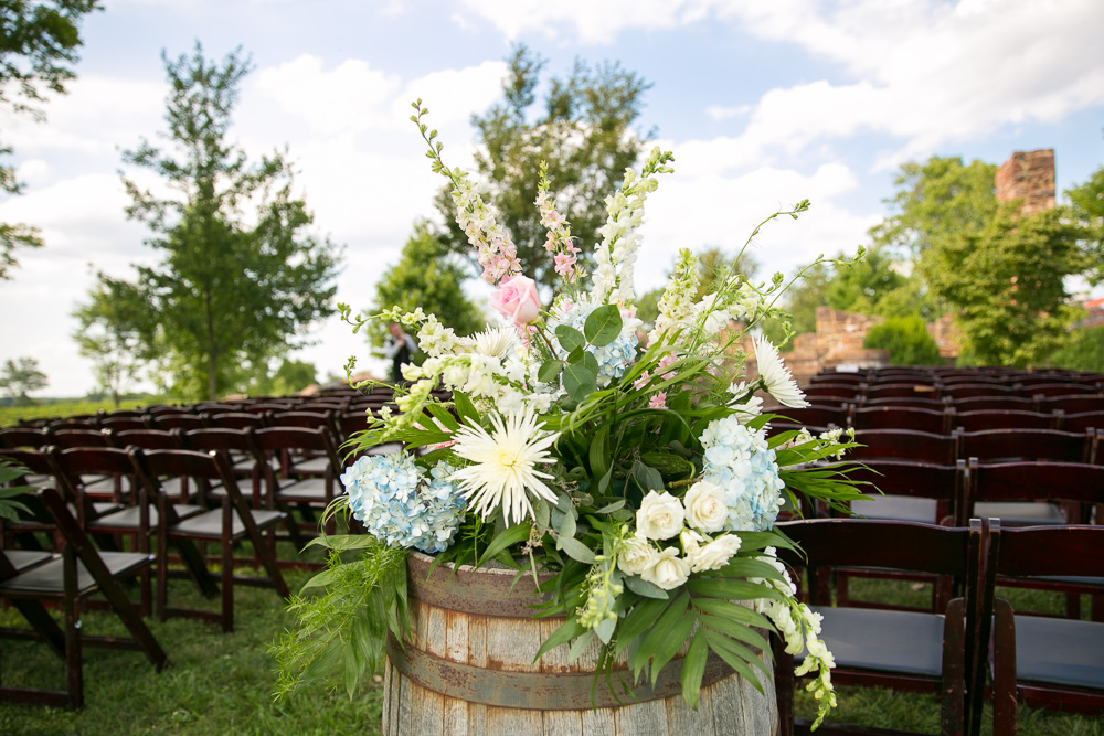 Wedding florals by Flower Gallery of Manassas | The Winery at Bull Run Wedding