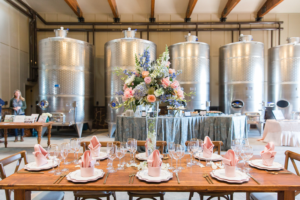 Tank Room Production Barn at The Winery at Bull Run | Northern Virginia Winery Wedding Venue