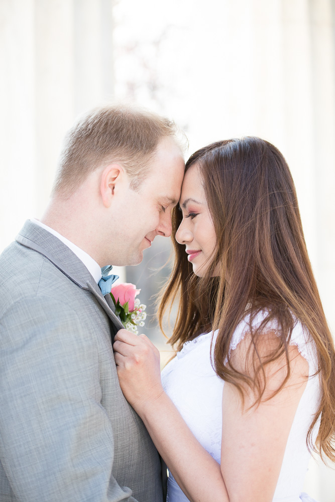 Wedding couple after their ceremony in DC