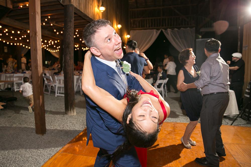 Fun candid wedding dance photo