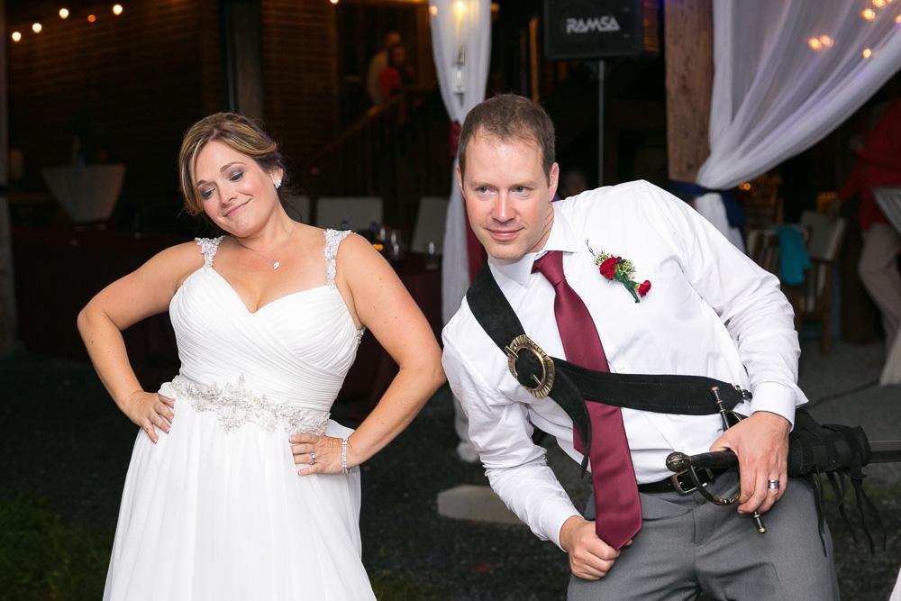 Fun dancing at the wedding reception in Culpeper, VA