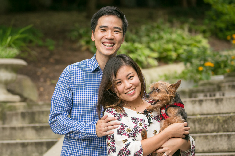 Proposal Photographer in Washington DC | Spanish Steps Wedding Proposal with Dog