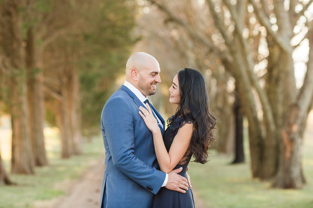 Looking into each other's eyes | Bealeton Wedding Photographer | Megan Rei Photography