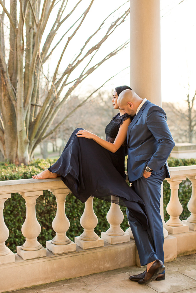 Engagement pictures at the Great Marsh Estate | Best Northern Virginia Manor Wedding Venue | Megan Rei Photography
