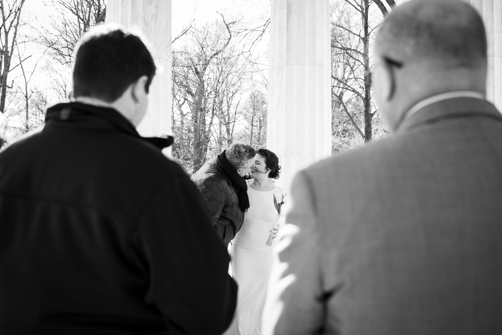 Sweet moment between bride and her father | Documentary Style Wedding Photography in Washington DC
