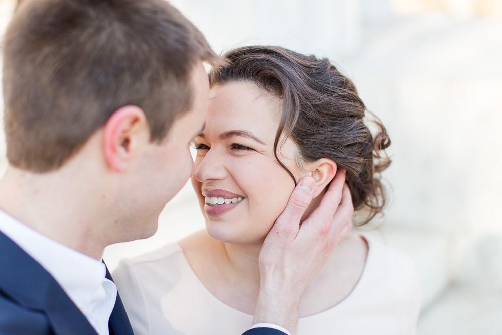Sweet photo of the bride | Washington DC Wedding Photographer