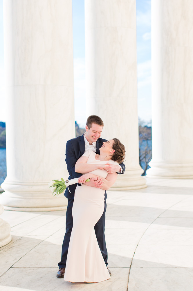 Dancing at the Jefferson Memorial | Best Washington, DC Wedding Venues | Candid DC Photographer