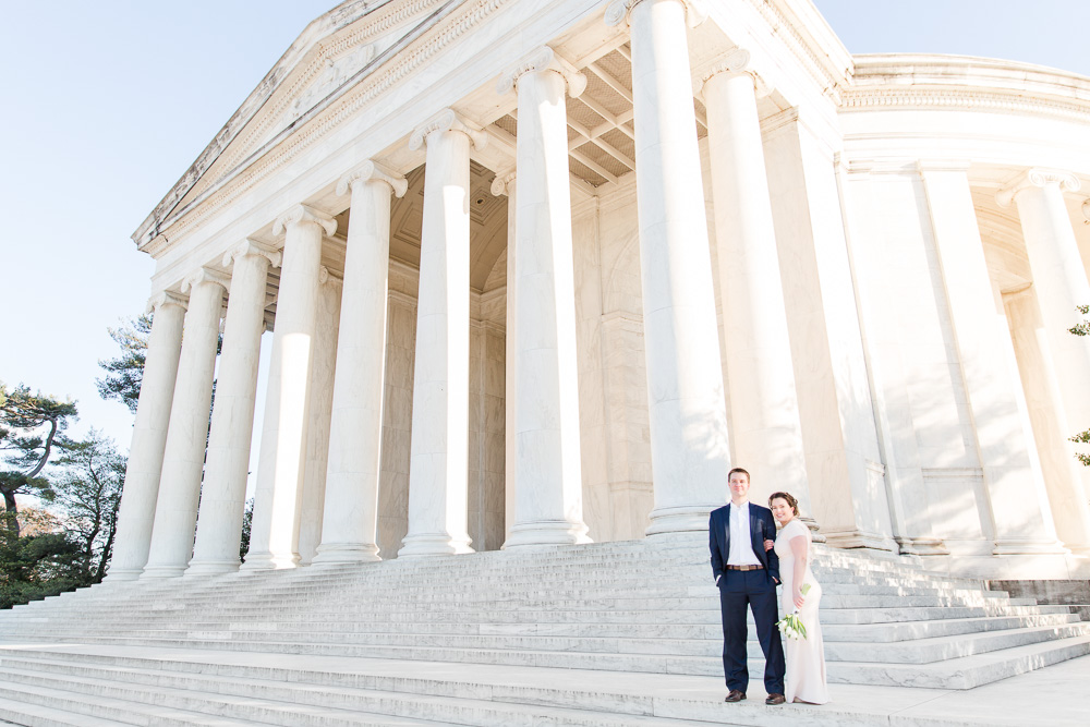 Washington DC Elopement Photographer | Intimate Wedding Photography in DC | Jefferson Memorial Wedding Photos | Megan Rei Photography