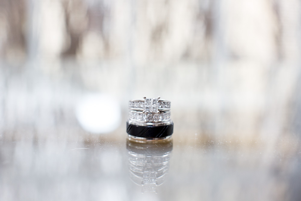 Wedding rings from Kay Jewelers | Small wedding in Culpeper, VA