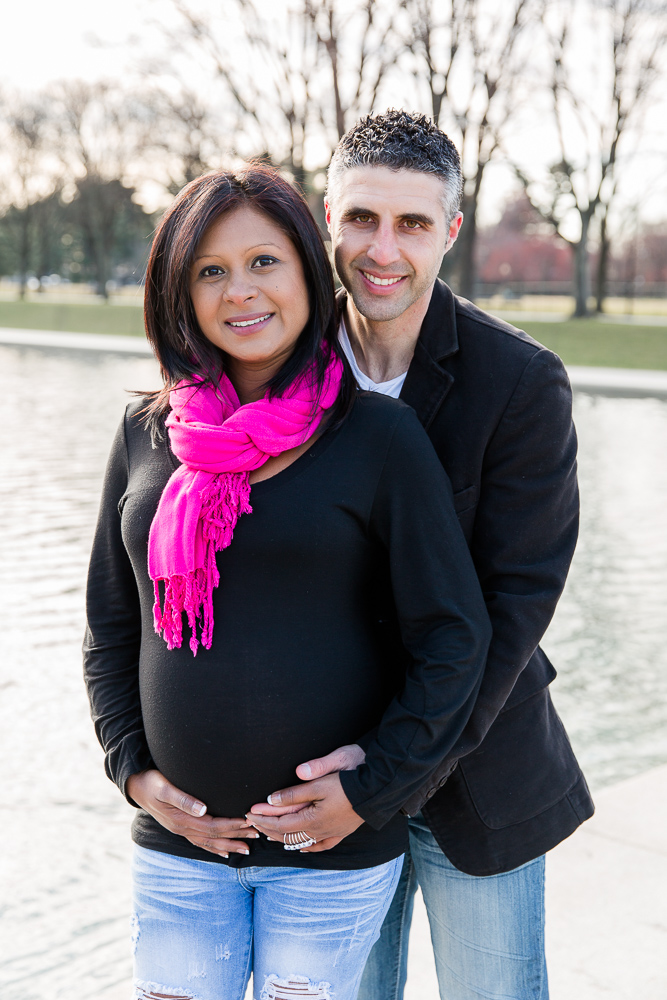 Maternity shoot in front of the Reflecting Pool | Washington DC and Northern Virginia Maternity Photographer
