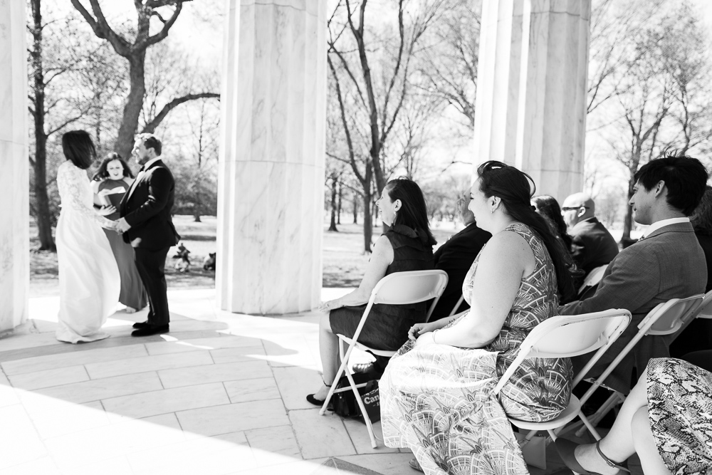 Wedding guests watching the couple exchange vows | Best DC Wedding Venues | Megan Rei Photography