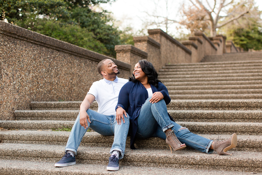 Engaged couple after their proposal at Meridian Hill Park | Favorite Engagement Locations in Washington, DC | Megan Rei Photography