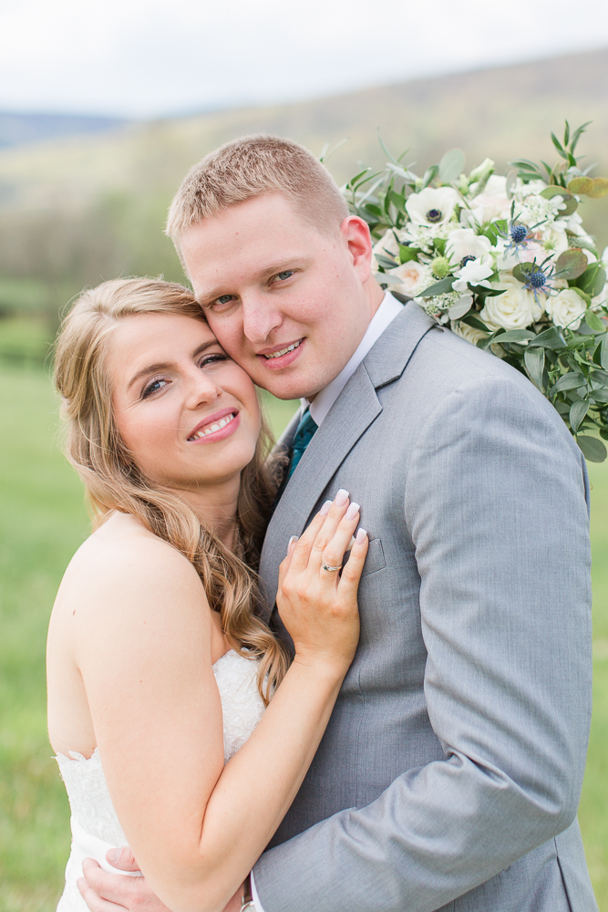 Wedding portraits in Crozet, Virginia | Bridal hair and makeup by Glo-Out Glamour Bar in Charlottesville