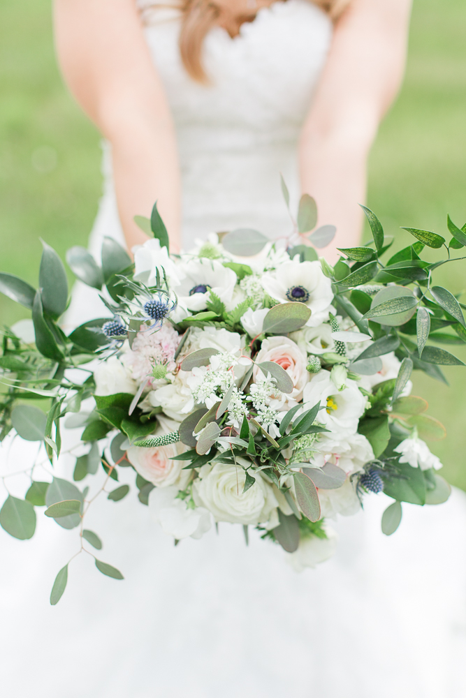 Beautiful bridal bouquet from Foxtail Cottage in Charlottesville Virginia | Charlottesville Wedding Florist
