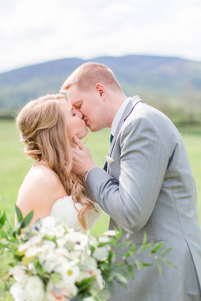 Sweet wedding photo at King Family Vineyards | Best wedding venues in Charlottesville, VA | Candid Charlottesville Photographer