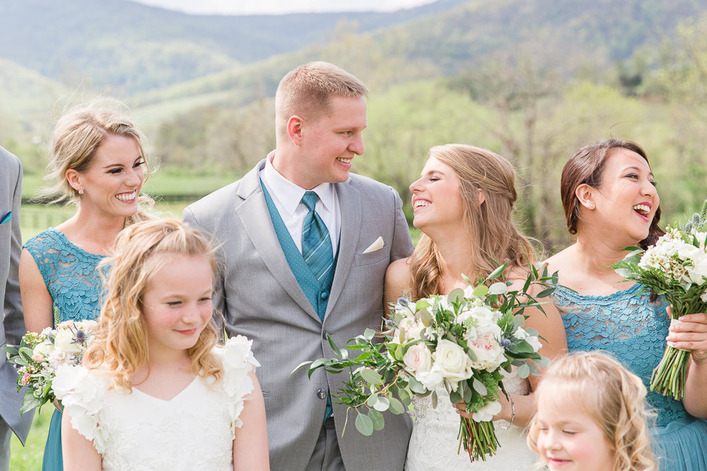Candid wedding party picture in Crozet, Virginia | Winery wedding venues in Charlottesville, VA