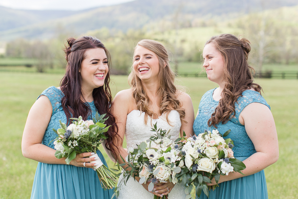 Fun photo of bride and her sisters | Candid Charlottesville Wedding Photography