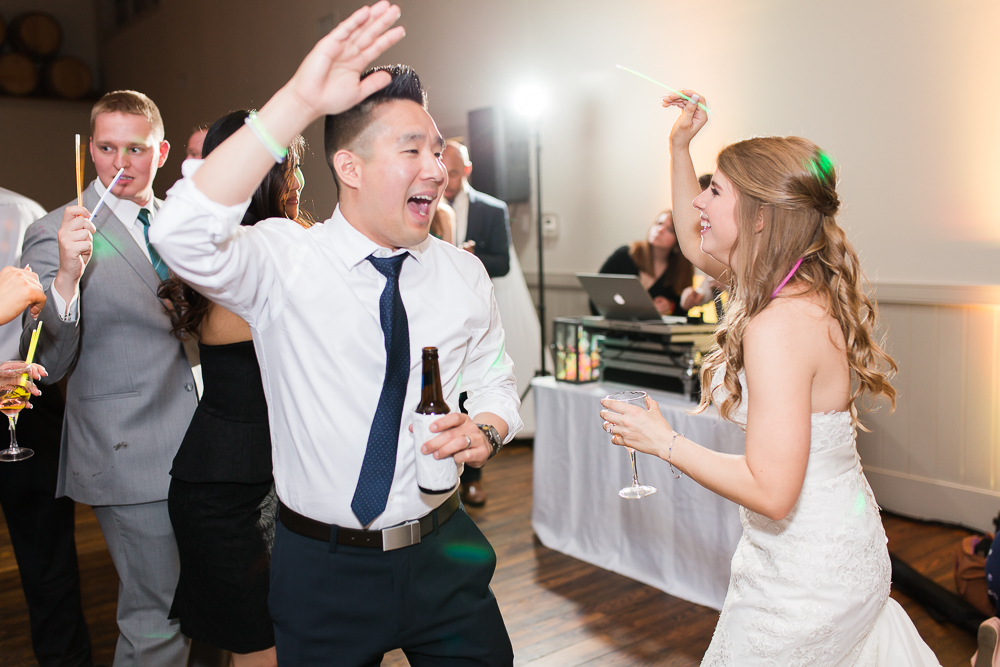 Bride and wedding guest having fun on the dance floor | Music by Guyton Mobile DJ