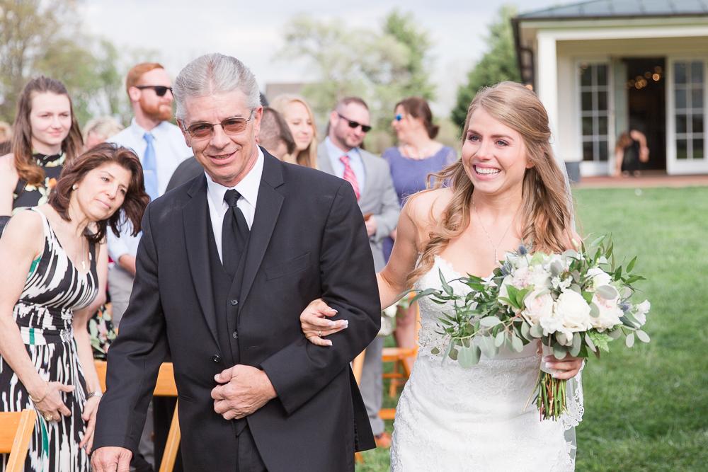 Emotional bride on her wedding day | Candid Charlottesville Wedding Photographer