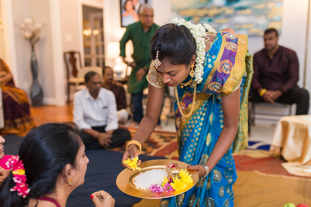 Daughter during the Indian marriage ceremony | Megan Rei Photography