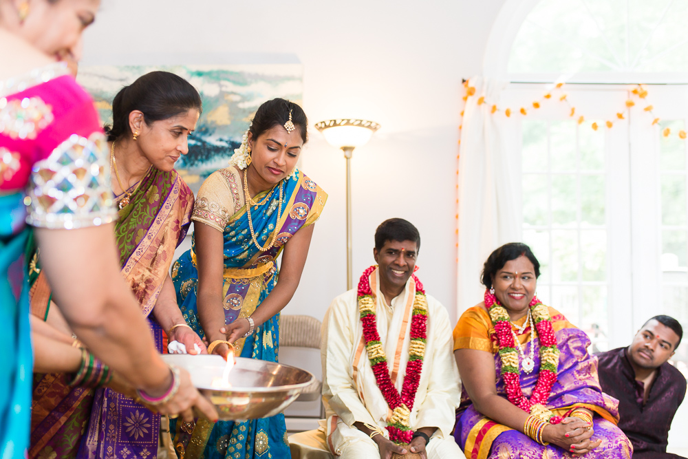 Candid style photography during Indian wedding ceremony in Northern Virginia